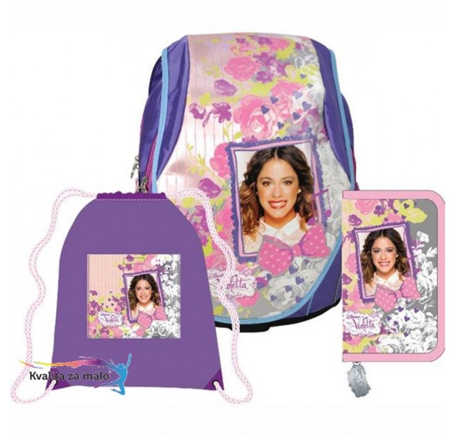 344b526d09 Anatomický školský ruksak ABB set - Violetta