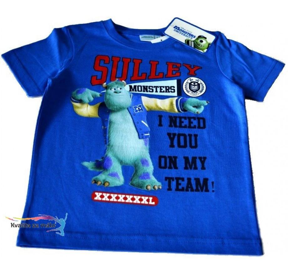 52af9bd96ee3 Disney Detské tričko Monsters University modré