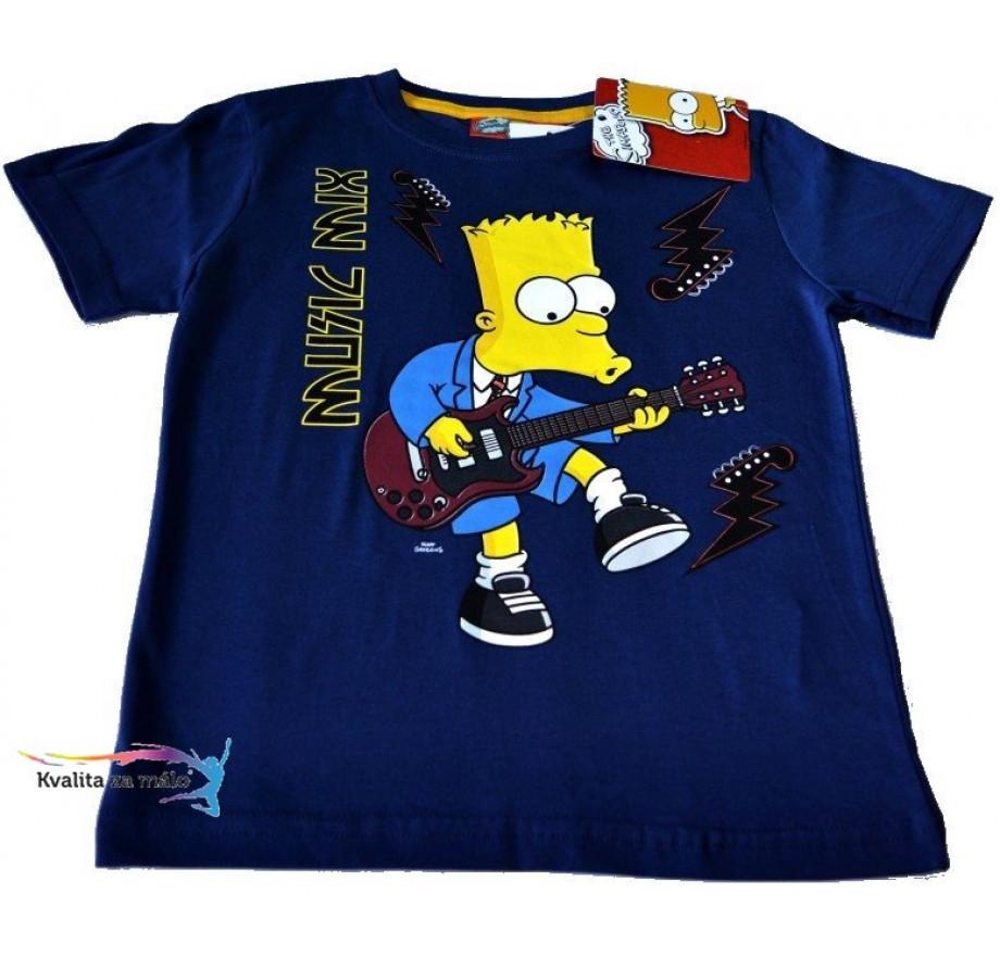 13d4b08df Tričko Detské Bart Simpson tmavo-modré