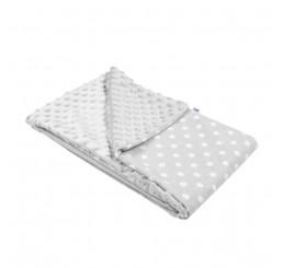 Detská deka šedá bodky do kočíku Bavlna-Polyester, 80x102 cm