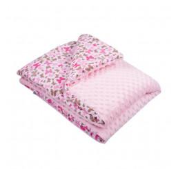 Detská deka s výplňou ružová Bavlna-Polyester, 80x102 cm