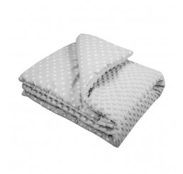 Detská deka s výplňou šedá Bavlna-Polyester, 80x102 cm