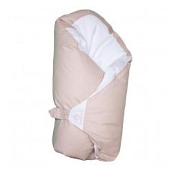 Obliečka béžová s bodkami na zavinovačku Dráčik Bavlna, 80x80 cm