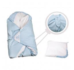 Obliečka modrá s bodkami na zavinovačku Maxi Dráčik Bavlna, 100x100 cm