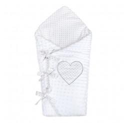 Luxusná šnurovacia zavinovačka z biela Bavlna-Polyester, 75x75 cm