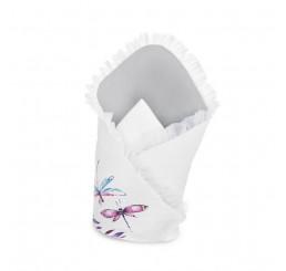 Zavinovačka s výstužou Vážky Bavlna-Polyester, 75x75 cm