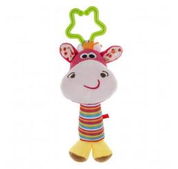 Plyšová hračka s hrkálkou Jeleň Plyš, 13 cm