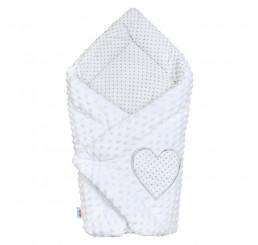 Luxusná zavinovačka biela Bavlna-Polyester, 75x75 cm