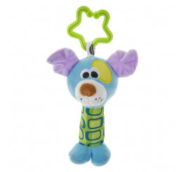 Plyšová hračka s hrkálkou PSÍK Plyš, 13 cm