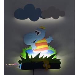 LED Lampička Hroch s diaľkovým ovládaním