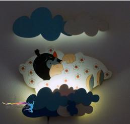LED Lampička Krtko v perinke s diaľkovým ovládaním