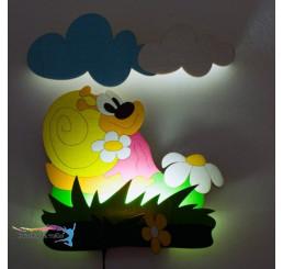 LED Lampička Slimáková s diaľkovým ovládaním