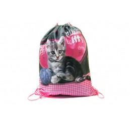 Taška na telocvik a prezuvky Sweet Pets Mačiatko Polyester, 34x43 cm
