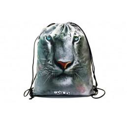 Taška na telocvik a prezuvky Biely Tiger Polyester, 34x43 cm