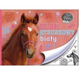 Blok na kreslenie s omaľovankou Nice and Pretty Kôň papier, 29x21 cm