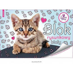 Blok na kreslenie s omaľovankou Sweet Pets Mačiatko papier, 29x21 cm