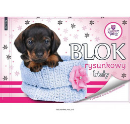 Blok na kreslenie s omaľovankou Sweet Pets Psík papier, 29x21 cm