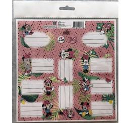Samolepiace menovky Minnie papier, 20x20 cm