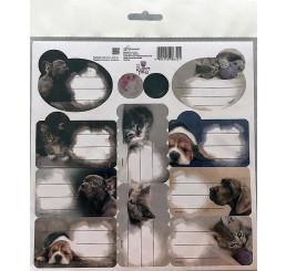 Samolepiace menovky Sweet Pets papier, 20x20 cm