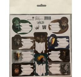 Samolepiace menovky Wild papier, 20x20 cm