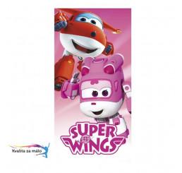 Osuška Super Wings pink 70x140