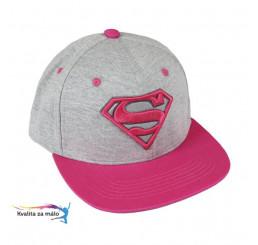 Šiltovka Superman pink veľ. 58