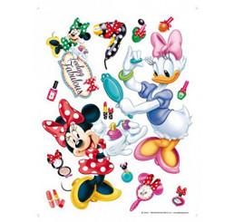 Veľká samolepka na stenu Minnie a Daisy make up Film 65x85 cm