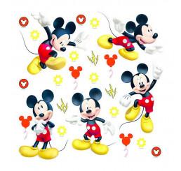 Samolepiaca nálepka na stenu Mickey 30x30 cm