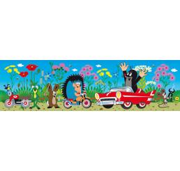 Samolepiaca bordúra Krtko a autíčko 14 cm x 5 m