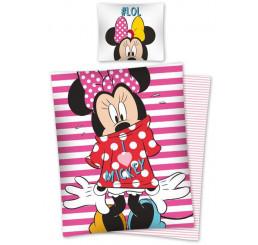 Obliečky Minnie pruhy 140x200, 70x80