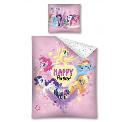 Obliečky My Little Pony Happy Bavlna, 140x200, 70x80 cm