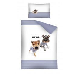 Obliečky do postieľky The Dog Námorníci modrá 100x135, 40x60