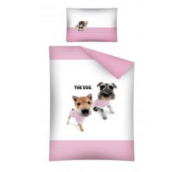 Obliečky do postieľky The Dog Námorníci ružová 100x135, 40x60