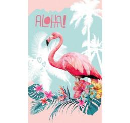 Detský uterák Plameniak Aloha Bavlna Froté, 50x30 cm