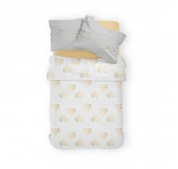 Obliečky Srdiečka biele Bavlna, 140x200, 70x80 cm