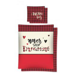 Obliečky Dream červené 140x200, 70x80