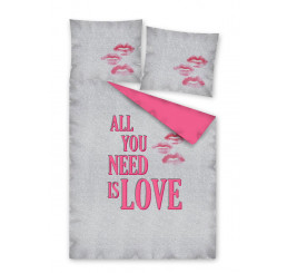 Obliečky All you need is LOVE 140x200, 70x80