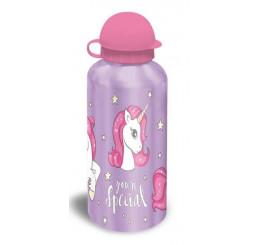 Hliníková fľaša Jednorožec lila 500 ml
