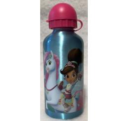 Hliníková fľaša Princezná Nella a jednorožec Hliník, Plast, 500 ml