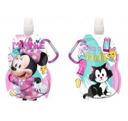 Fľaša na pitie s karabínou Minnie hearts 330 ml