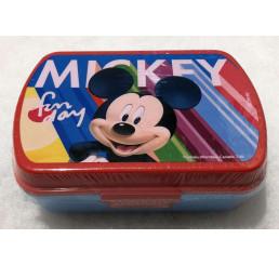 Box na desiatu Mickey blue Plast 16x11x6 cm
