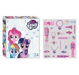 Adventný kalendár My Little Pony vlasové doplnky 33x29 cm