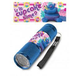 Detská hliníková LED baterka Trollovia CUPCAKE