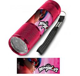 Detská hliníková LED baterka Kúzelná Lienka ružová