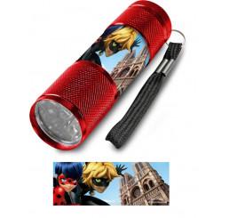 Detská hliníková LED baterka Kúzelná Lienka Paríž