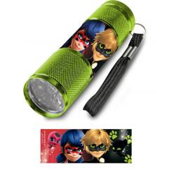 Detská hliníková LED baterka Kúzelná Lienka zelená