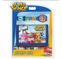 Darčeková sada peňaženka a hodinky Super Wings