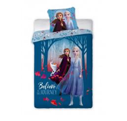 Obliečky Ľadové Kráľovstvo 2 Blue Bavlna 140x200, 70x90 cm