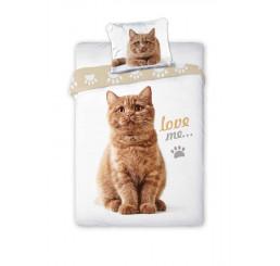 Obliečky Mačka hrdzavá 140x200, 70x90