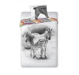 Obliečky Zebra Bavlna, 140x200, 70x90 cm